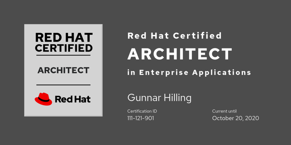 Red Hat Certified Architect in Enterprise Applications Level III