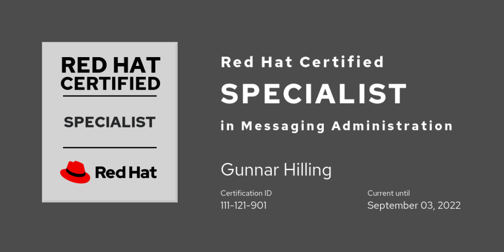 Red Hat Certified Specialist in Messaging Administration