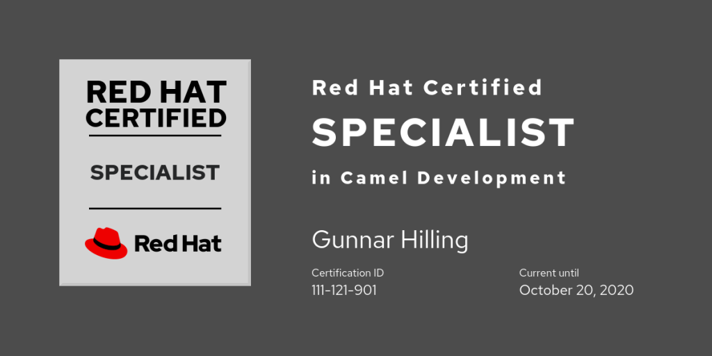 Red Hat Certified Specialist in Camel Development
