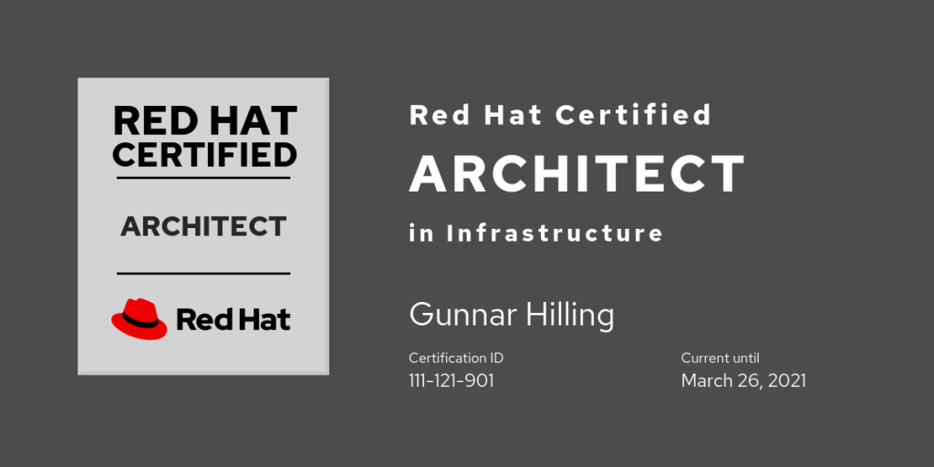 Red Hat Certified Architect in Infrastructure Level II