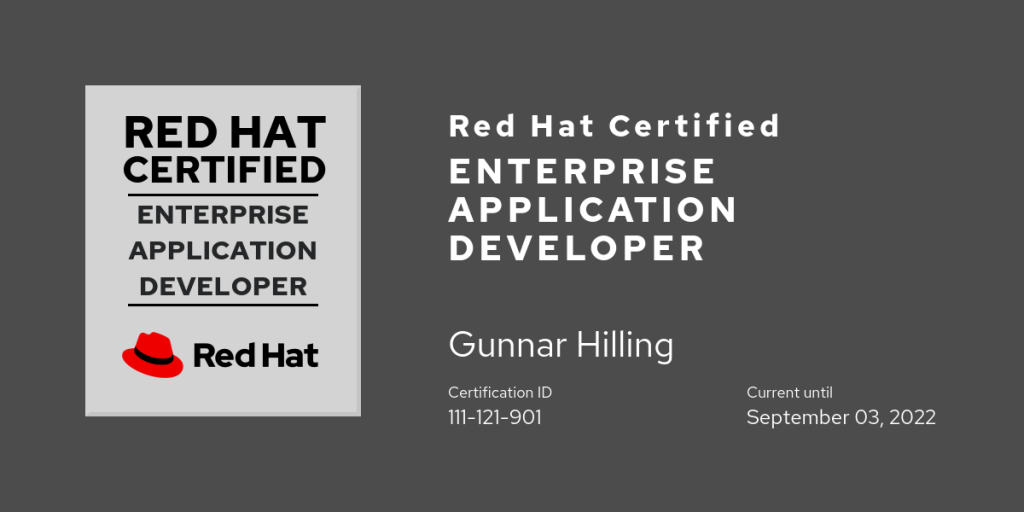 Red Hat Certified Enterprise Application Developer