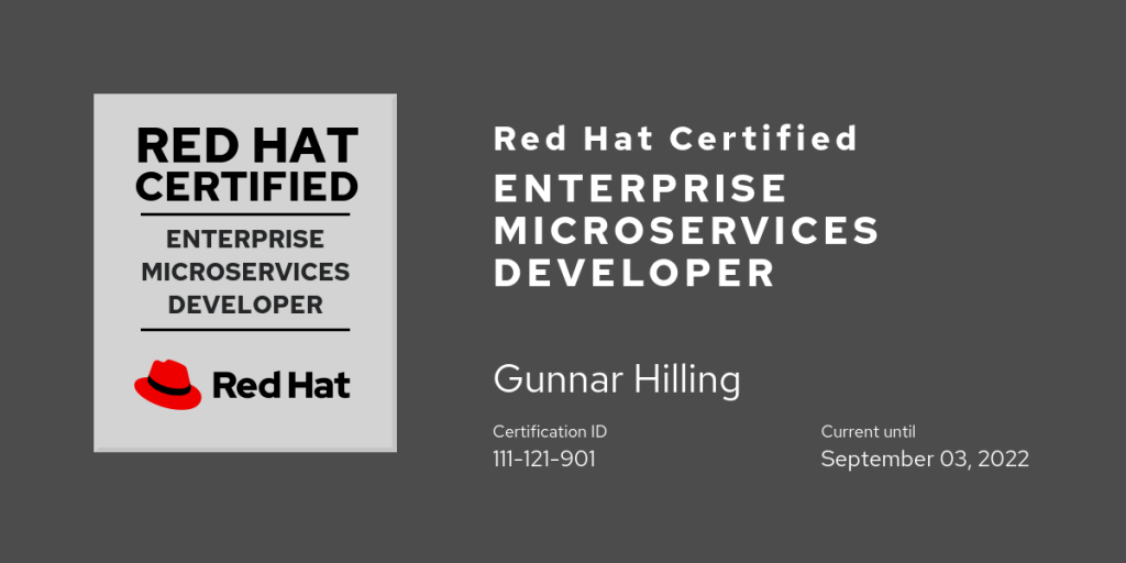 Red Hat Certified Enterprise Microservices Developer
